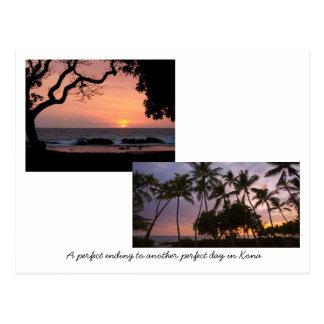 Cartão Postal Pôr do sol em Kona