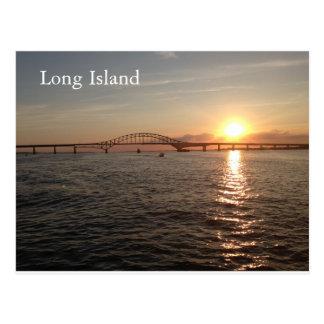 Cartão Postal Por do sol em Long Island
