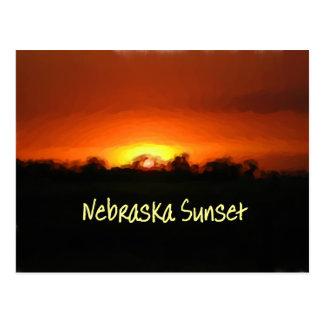 Cartão Postal Por do sol em Nebrask