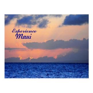 Cartão Postal Por do sol espectacular, Lahaina, Maui Havaí