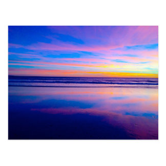 Cartão Postal Por do sol ideal azul, Santa Monica
