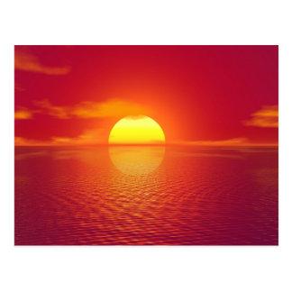 Cartão Postal Por do sol India
