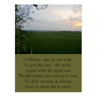 Cartão Postal Por do sol intemporal de Beltane