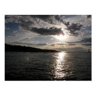 Cartão Postal Por do sol na água