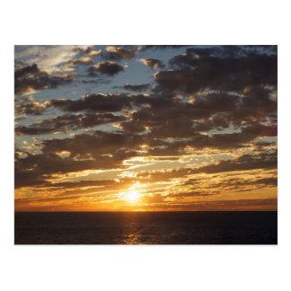 Cartão Postal Por do sol na foto do mar