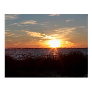 Cartão Postal Por do sol na ilha de Chincoteague