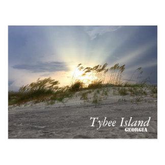 Cartão Postal Por do sol na ilha de Tybee, Geórgia