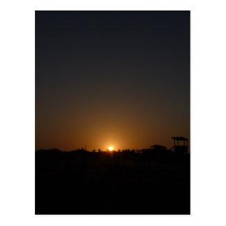 Cartão Postal Por do sol na ilha do mustang