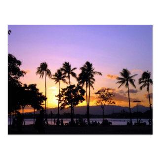 Cartão Postal Por do sol na praia