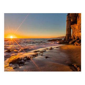 Cartão Postal Por do sol na praia 2 de Victoria