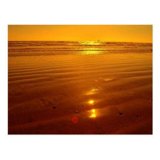 Cartão Postal Por do sol na praia no perto do oceano, Califórnia