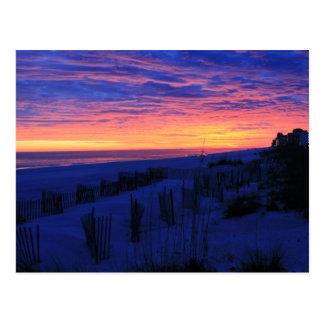 Cartão Postal Por do sol nas praias de Alabama