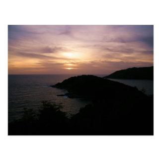 Cartão Postal Por do sol no cabo de Promthep