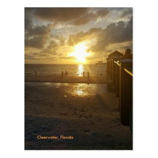 Cartão Postal Por do sol no cais