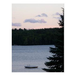 Cartão Postal Por do sol no lago