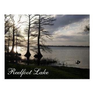 Cartão Postal Por do sol no lago Reelfoot