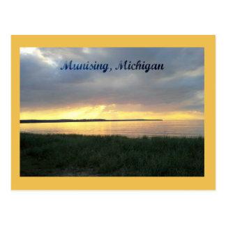 Cartão Postal Por do sol no Lago Superior em Munising, Michigan