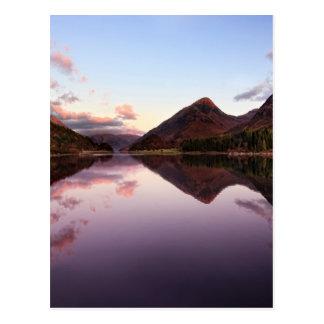 Cartão Postal Por do sol no Loch Leven, Scotland