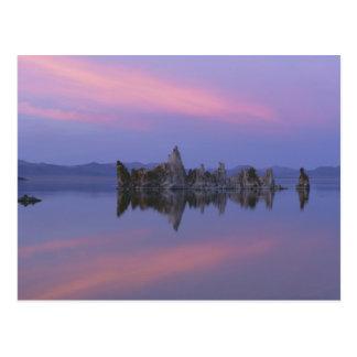 Cartão Postal Por do sol no mono lago, CA