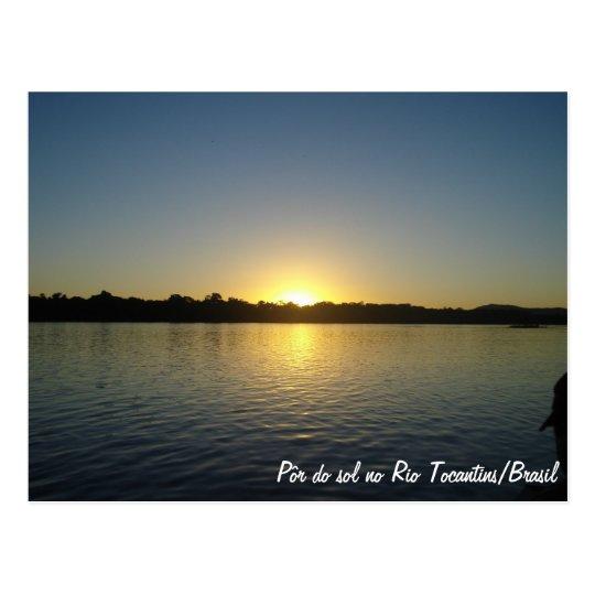 Cartão Postal Por do Sol no Rio Tocantins