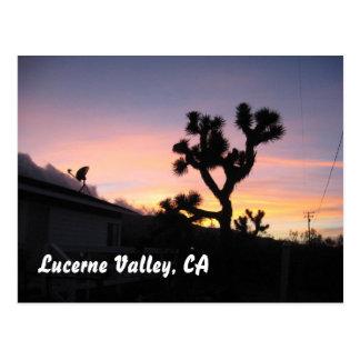 Cartão Postal Por do sol no vale da lucerna