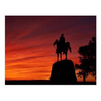 Cartão Postal Por do sol - parque nacional de Gettysburg -