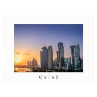 Cartão Postal Por do sol sobre a cidade de Doha, Qatar