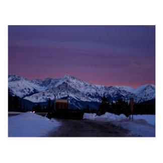 Cartão Postal Por do sol sobre as Montanhas Rochosas
