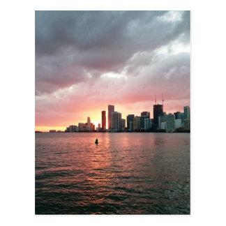 Cartão Postal Por do sol sobre Miami