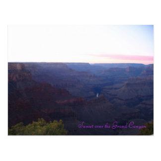 Cartão Postal Por do sol sobre o Grand Canyon