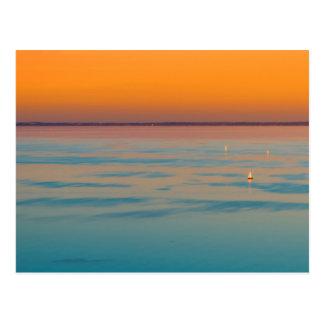Cartão Postal Por do sol sobre o lago Balaton, Hungria