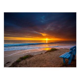 Cartão Postal Por do sol sobre o Oceano Pacífico
