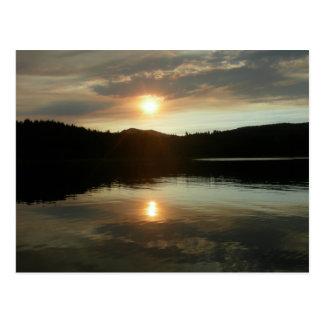 Cartão Postal Por do sol sobre o reservatório de Spring Valley