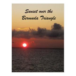 Cartão Postal Por do sol sobre o triângulo de Bermuda