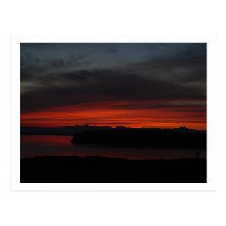 Cartão Postal Por do sol sobre Puget Sound