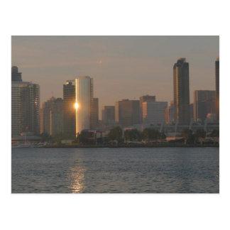 Cartão Postal Por do sol sobre San Diego
