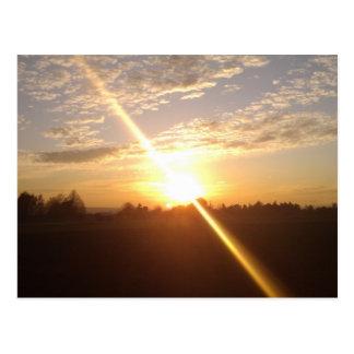 Cartão Postal Pôr do sol sobre Wiesbaden e De Mainz