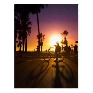Cartão Postal por do sol Veneza