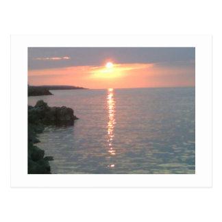 Cartão Postal Por do sol vermelho