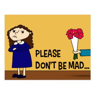 Cartão Postal Por favor não seja louco