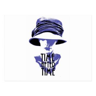 Cartão Postal Por muitas vezes seguidas chapéu do azul