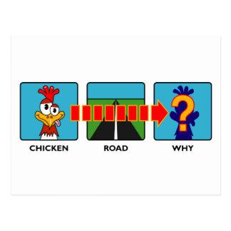 Cartão Postal Por que fez a galinha?