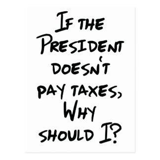 Cartão Postal Por que impostos do pagamento?