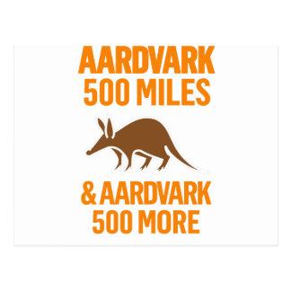 Cartão Postal Porco-da-terra 500 milhas de chalaça engraçada