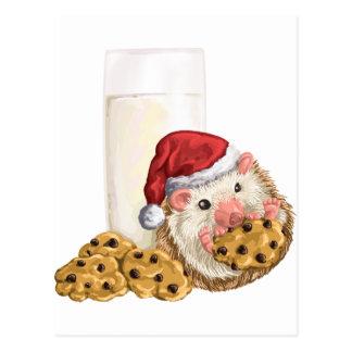 Cartão Postal Porco do biscoito do Natal