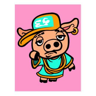 Cartão Postal Porco do gueto
