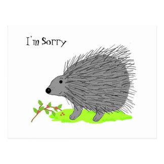 Cartão Postal Porco- dos desenhos animados - eu sou pesaroso