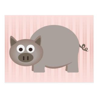 Cartão Postal Porco pequeno de Brown