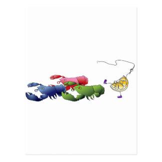 Cartão Postal Porque as lagostas marcham