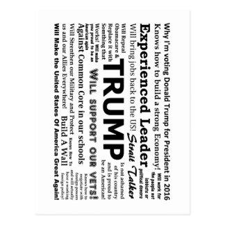 Cartão Postal Porque eu estou votando para Donald Trump